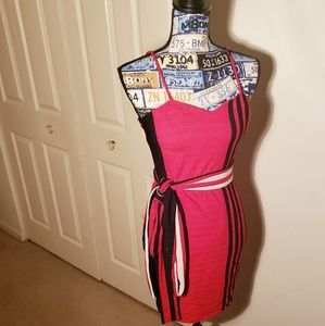 Large red and black Monoco bodycon dress